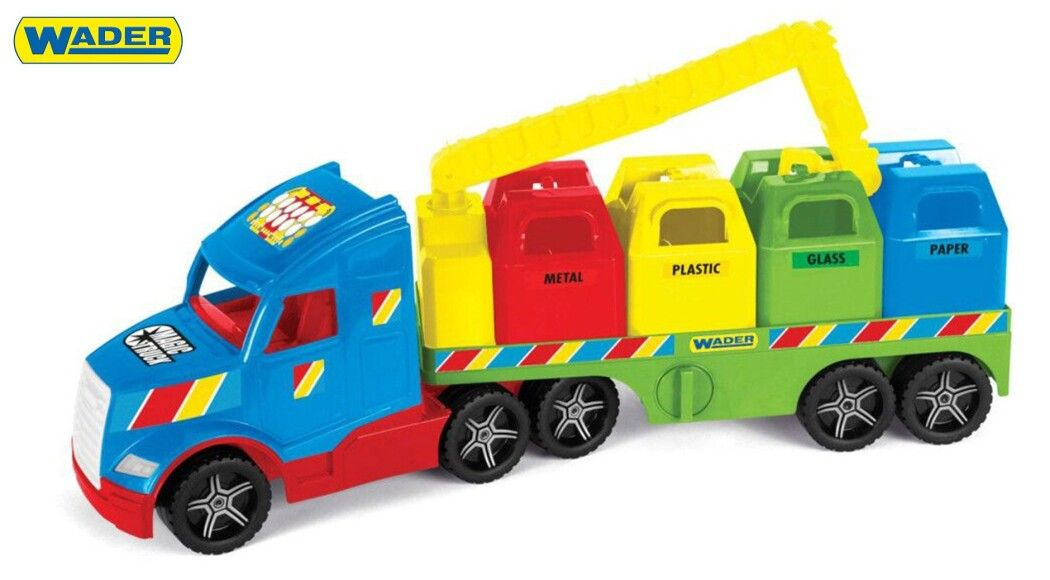 """Фото - Машинки WADER серії  """"Magic Truck Basic"""" - магічні вантажівки з виховними функціями"""