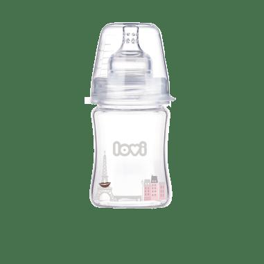Стеклянная бутылочка  LOVI 150 ml - Diamond Glass - Retro girl