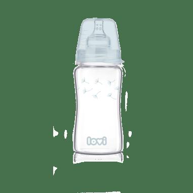 LOVI Пляшечка скляна Diamond Glass 250 мл Botanic