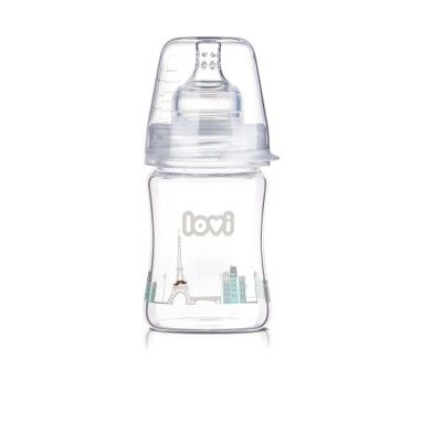 Пляшечка скляна  LOVI 150 ml - Diamond Glass - Retro boy