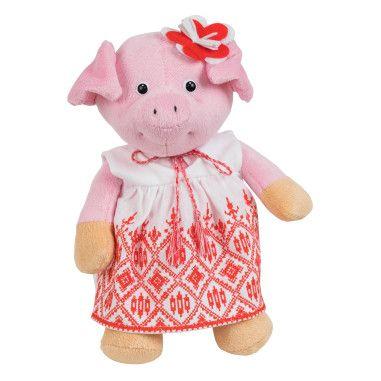 Cвинка-девочка в вышиванке, 25 см, Tigres
