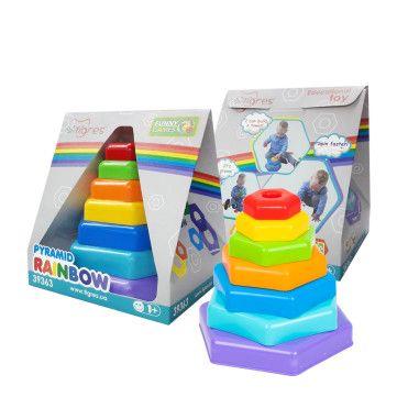 """Іграшка розвиваюча """"Пірамідка-веселка"""" в коробці"""