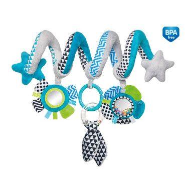 Canpol babies Іграшка м яка спіраль до ліжечка/візка Zig Zag - блакитна