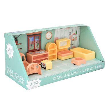 Набір меблів для ляльок (спальня) 7 ел., ELFIKI