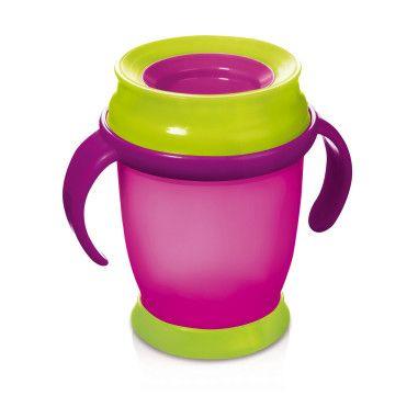 360 Кружка з ручками (210 мл) mini LOVI рожева