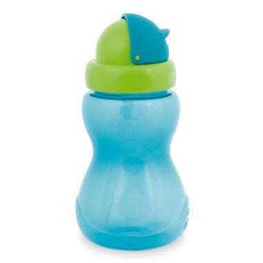 Бiдончик спортивний з трубкою (малий) - синій