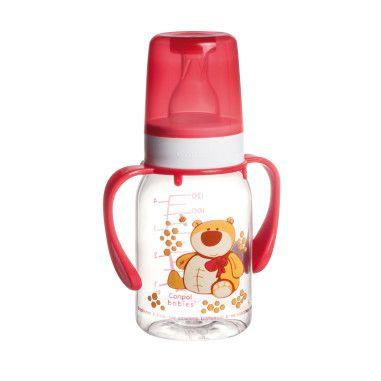 """Пляшка 120 мл з малюнком і ручкою (BPA FREE), колекція """"Кольорова ферма"""""""