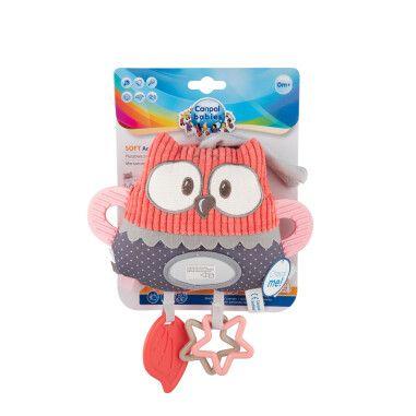 Canpol babies Іграшка плюшева розвиваюча до ліжечка/візка Pastel Friends - коралова