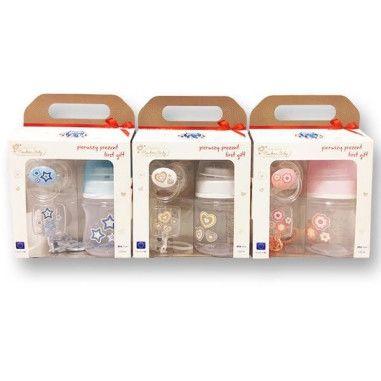 Набір стартовий Newborn baby (пляшка, пустушка, ланцюжок)