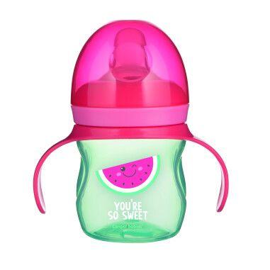 Canpol babies кружка тренувальна з силіконовим носиком 150 мл SO COOL - рожева