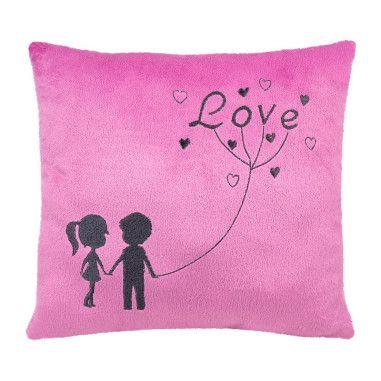 """Подушка - валентинка """"Ты и я"""" (розовая)"""
