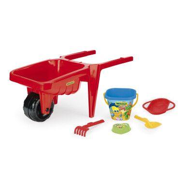 Тележка для песка «Гигант» с набором для песка красная