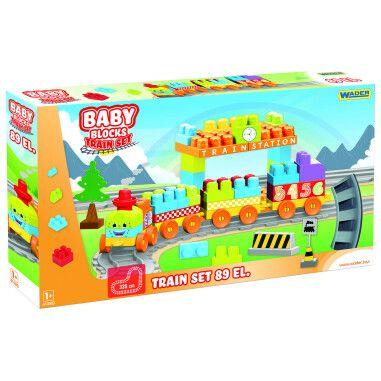 """""""Baby Blocks"""" Мої перші кубики - залізниця 3,35м - 89ел."""