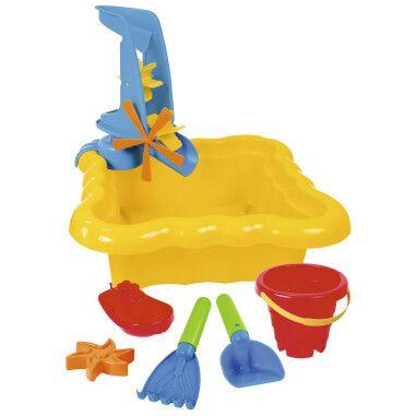 Набір до піску та води з млинком 7 ел. (жовтий)