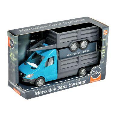 """Автомобиль """"Mercedes-Benz Sprinter"""" бортовой с прицепом (циан), Tigres"""