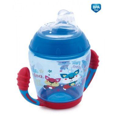 Canpol babies Кружка непроливайка з м'яким силіконовим носиком 230 мл Toys - синя
