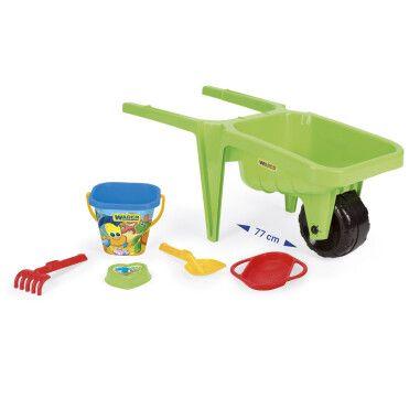 """Візок для піску """"Гігант"""" з набором до піску зелений"""