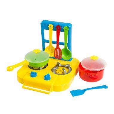 """Набір посуду столовий """"Ромашка"""" з плиткою 7 ел."""