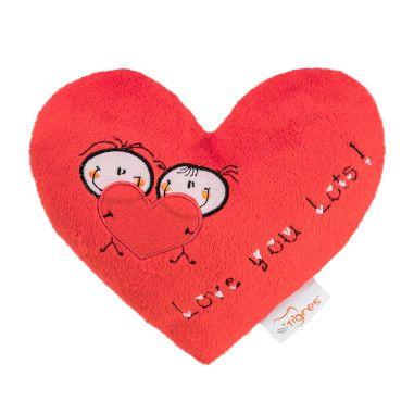 "Валентинка-серце - "" Love you lots"" (18 см)"