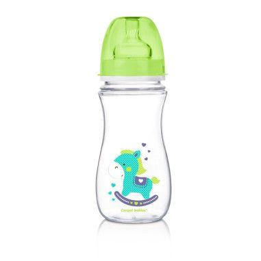 Пляшка з широким отвором антиколікова Easystart - Toys 300 мл зелений коник