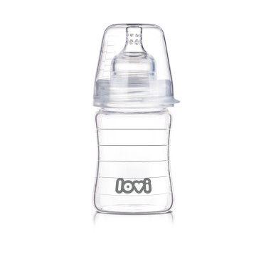 Пляшечка скляна LOVI 150 ml - Diamond Glass