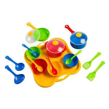 """Набор игрушечной посуды столовый """"Ромашка"""" 19 элементов"""