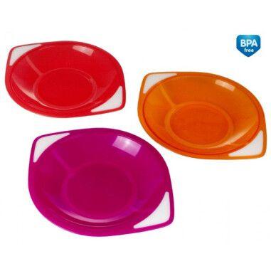 Набір пластикових тарілок 3 шт.
