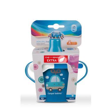 Кружка-непроливайка Toys 250 мл + ложечка