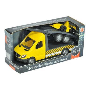"Автомобіль ""Mercedes-Benz Sprinter"" евакуатор з лафетом (жовтий), Tigres"
