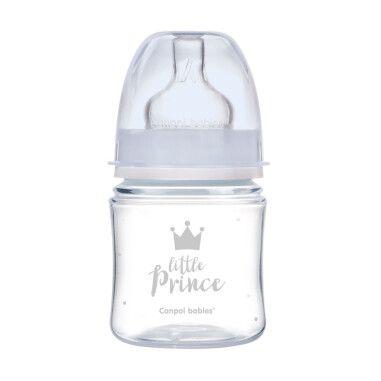 Canpol babies Пляшка антиколікова з широким отвором 120 мл PP Easystart Royal baby