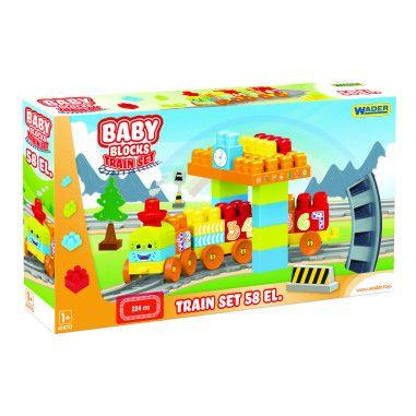 """""""Baby Blocks"""" Мої перші кубики - залізниця 2,24м - 58ел."""