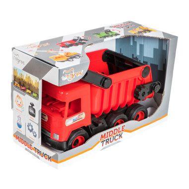 """Авто """"Middle truck"""" самоскид (червоний) в коробці"""