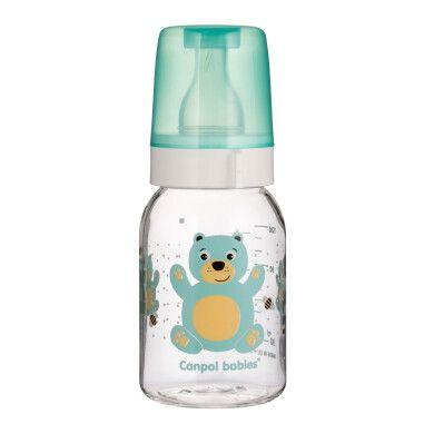 "Бутылочка 120 мл с рисунком (BPA FREE), коллекция ""Веселые зверята"""