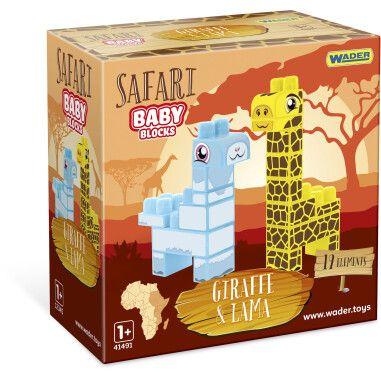 """Baby Blocks"" конструктор Сафарі - жирафа & лама"