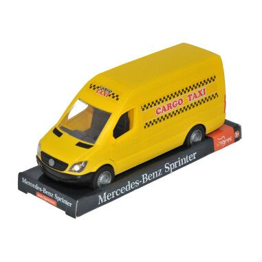 """Автомобиль """"Mercedes-Benz Sprinter"""" грузовой (жёлтый), на планшетке, Tigres"""