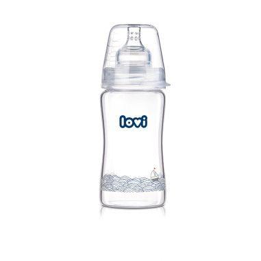 Пляшечка скляна LOVI 250 ml - Diamond Glass - Marine