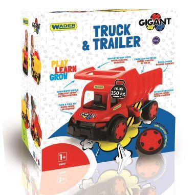 """Вантажівка """"Гігант"""" + іграшка візок (лімітована колекція)"""