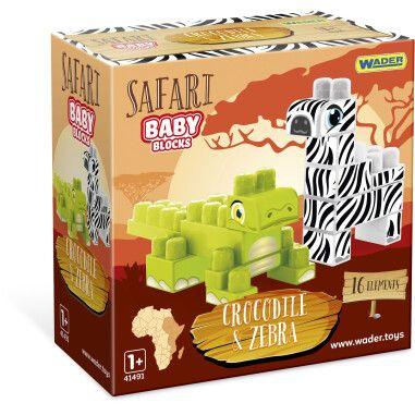 """Baby Blocks"" конструктор Сафарі - крокодил & зебра"