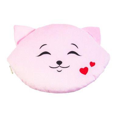 """Подушка """"Кошка-смайл"""" (45 см) - влюбленный"""