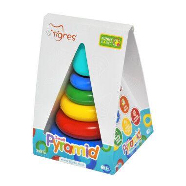 """Іграшка розвиваюча """"Пірамідка"""" мала в коробці, Tigres"""