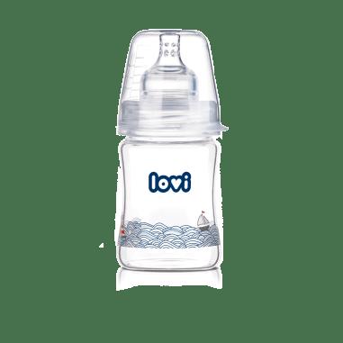 Пляшечка скляна  LOVI 150 ml - Diamond Glass - Marine