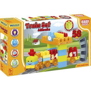 """""""Baby Blocks"""" Мои первые кубики - железная дорога 2,24м - 58 эл."""