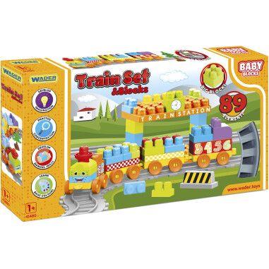 """""""Baby Blocks"""" Мои первые кубики - железная дорога 3,35м - 89 эл."""