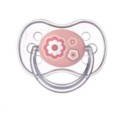Пустушка силіконова симетрична 6-18 м-ців Newborn baby бежеві серця