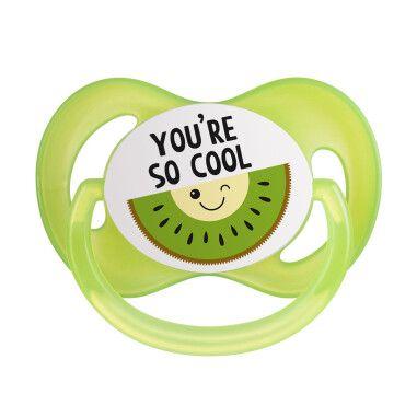 Canpol babies Пустушка силіконова симетрична 0-6 м-ців So Cool - зелена
