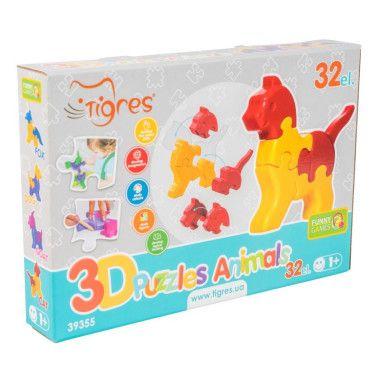 Развивающая игрушка: 3D пазлы - Зверюшки (4шт.) - 32 ел.
