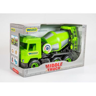 "Авто ""Middle truck"" бетономешалка (зеленая) в коробке"