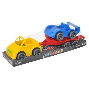 """Набір авто """"Kid cars Sport"""" 3 ел. на планшетці (кабріолет + гонка)"""
