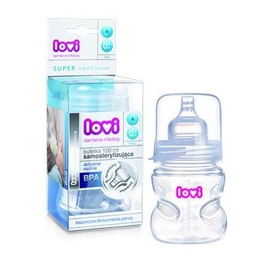 Пляшка самостерилізуюча 150 мл PP LOVI (BPA FREE)