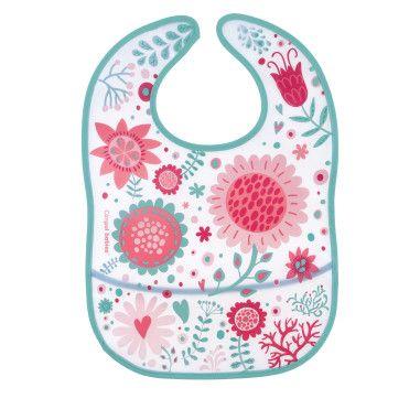 Canpol babies Слинявчик пластмасовий з кишенькою Wild Nature -  рожевий